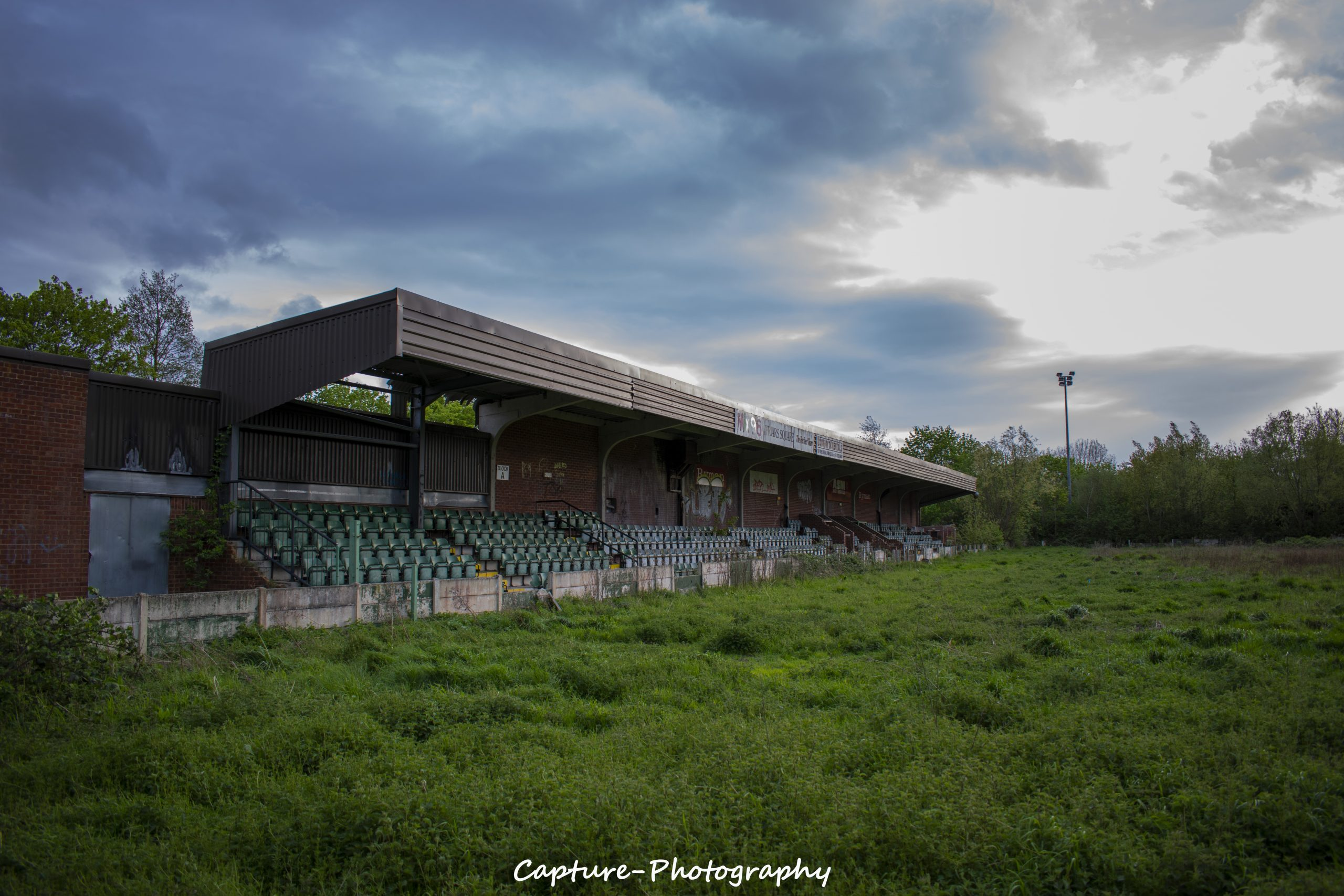 Abandoned Football Stadium.